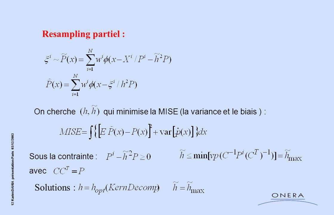 Resampling partiel : Solutions :