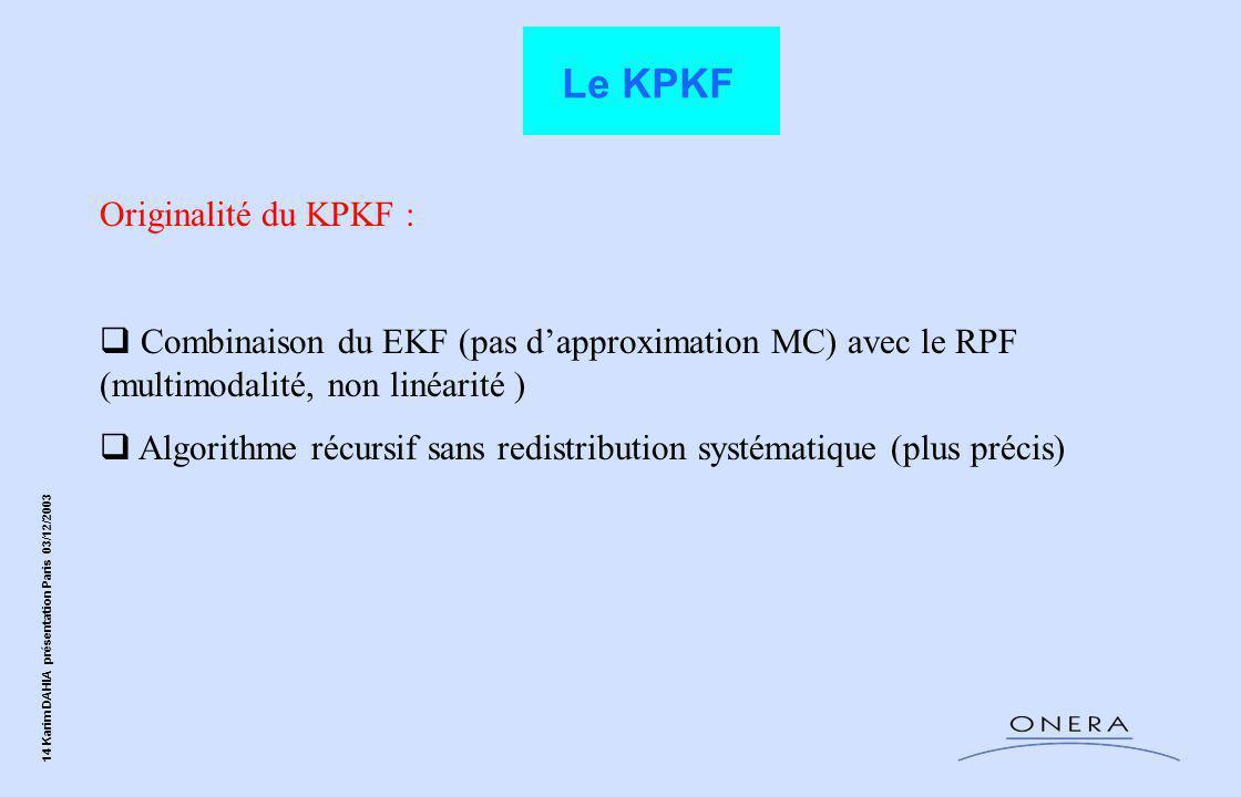 Le KPKF Originalité du KPKF :