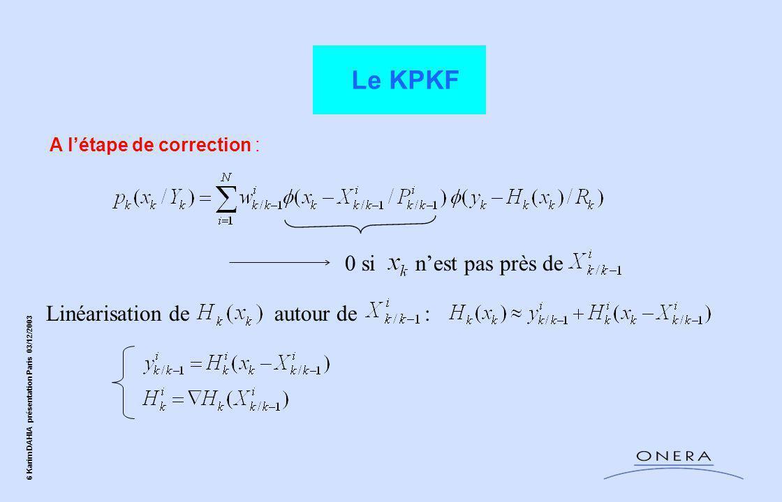 Le KPKF 0 si n'est pas près de Linéarisation de autour de :