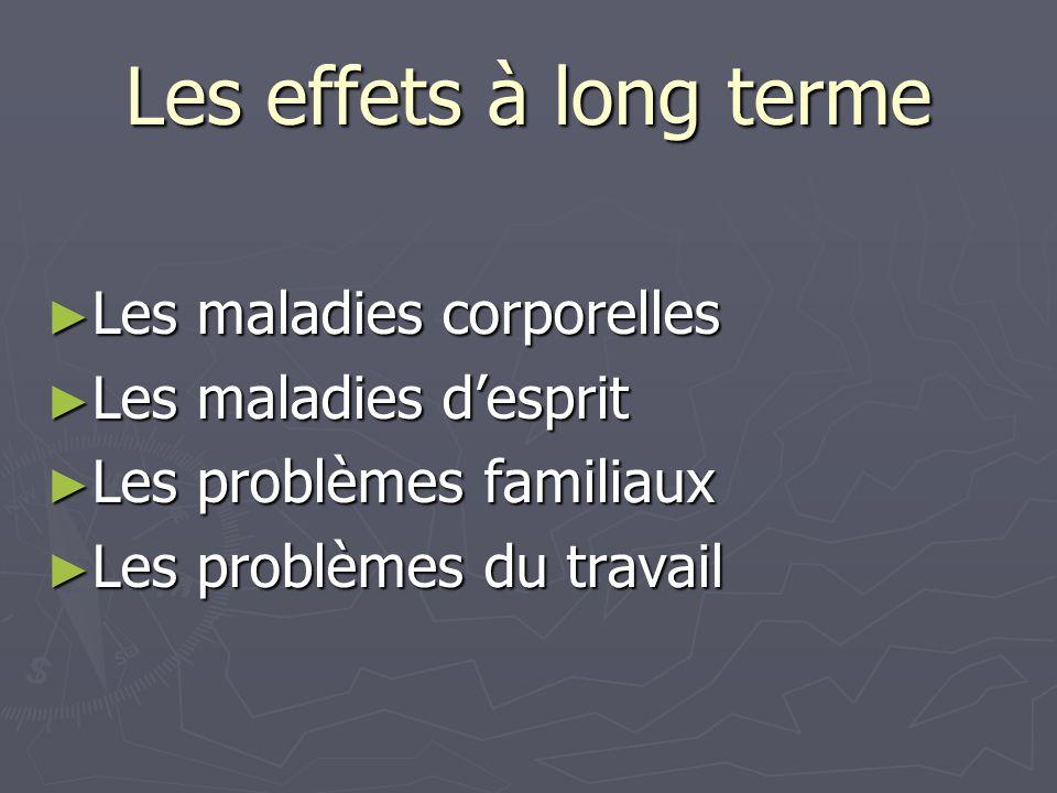 Les effets à long terme Les maladies corporelles Les maladies d'esprit