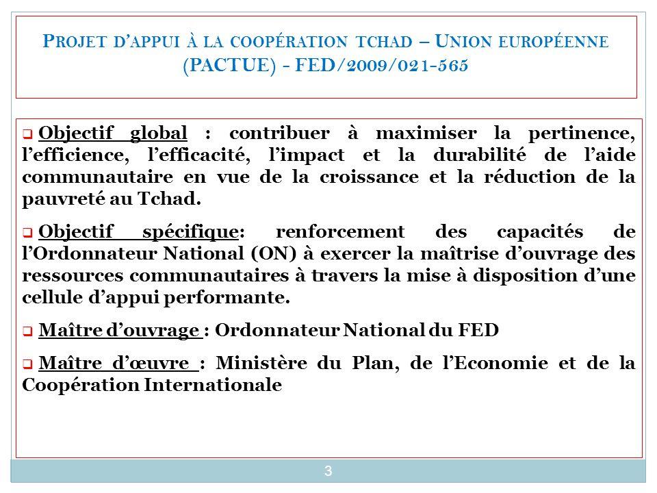 Projet d'appui à la coopération tchad – Union européenne (PACTUE) - FED/2009/021-565