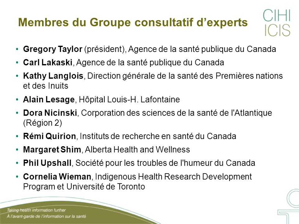 Membres du Groupe consultatif d'experts