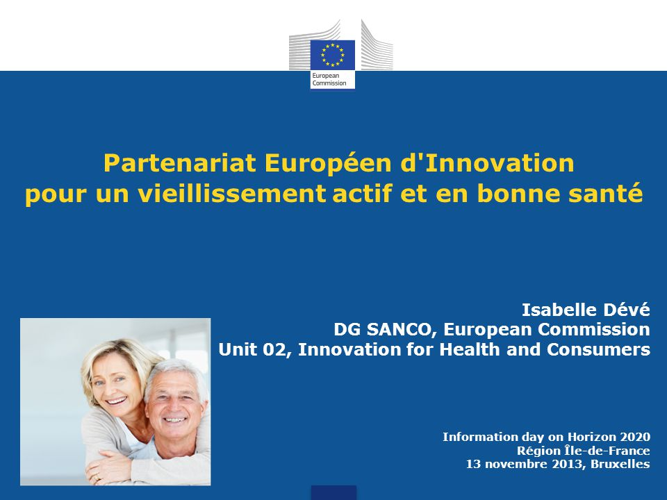 Partenariat Européen d Innovation pour un vieillissement actif et en bonne santé