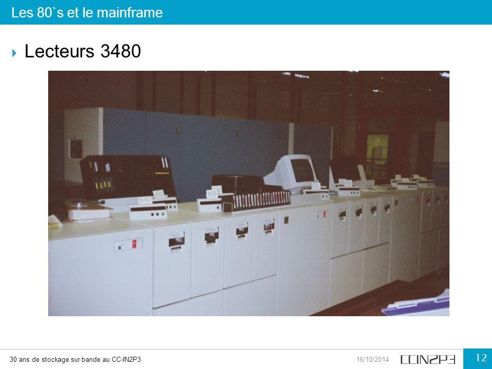 Lecteurs 3480 Les 80`s et le mainframe