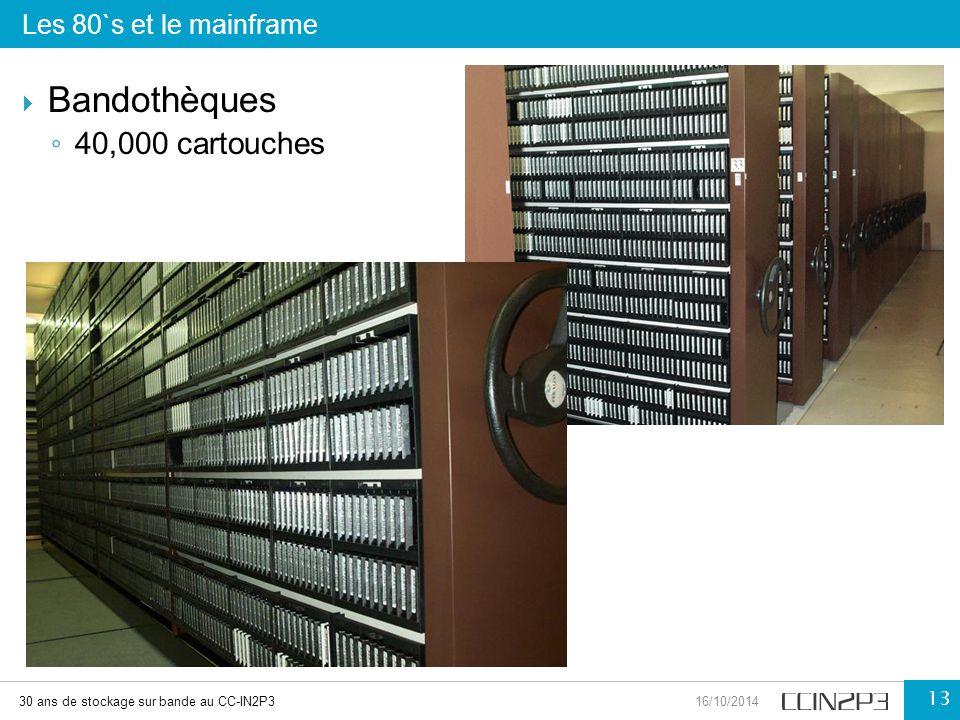 Bandothèques 40,000 cartouches Les 80`s et le mainframe