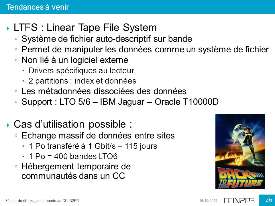 LTFS : Linear Tape File System