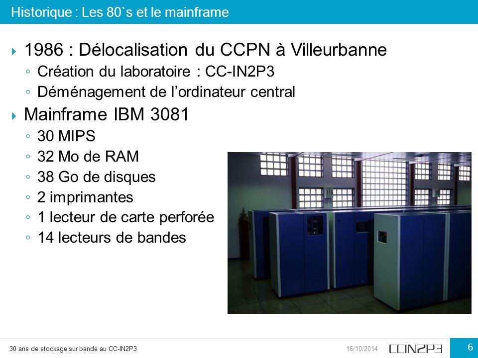 1986 : Délocalisation du CCPN à Villeurbanne