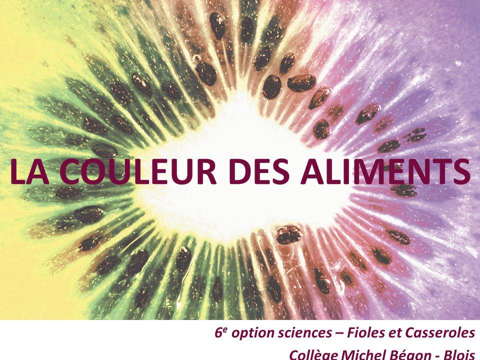 6e option sciences – Fioles et Casseroles Collège Michel Bégon - Blois