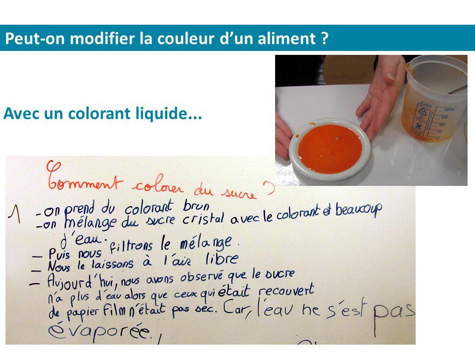Peut-on modifier la couleur d'un aliment