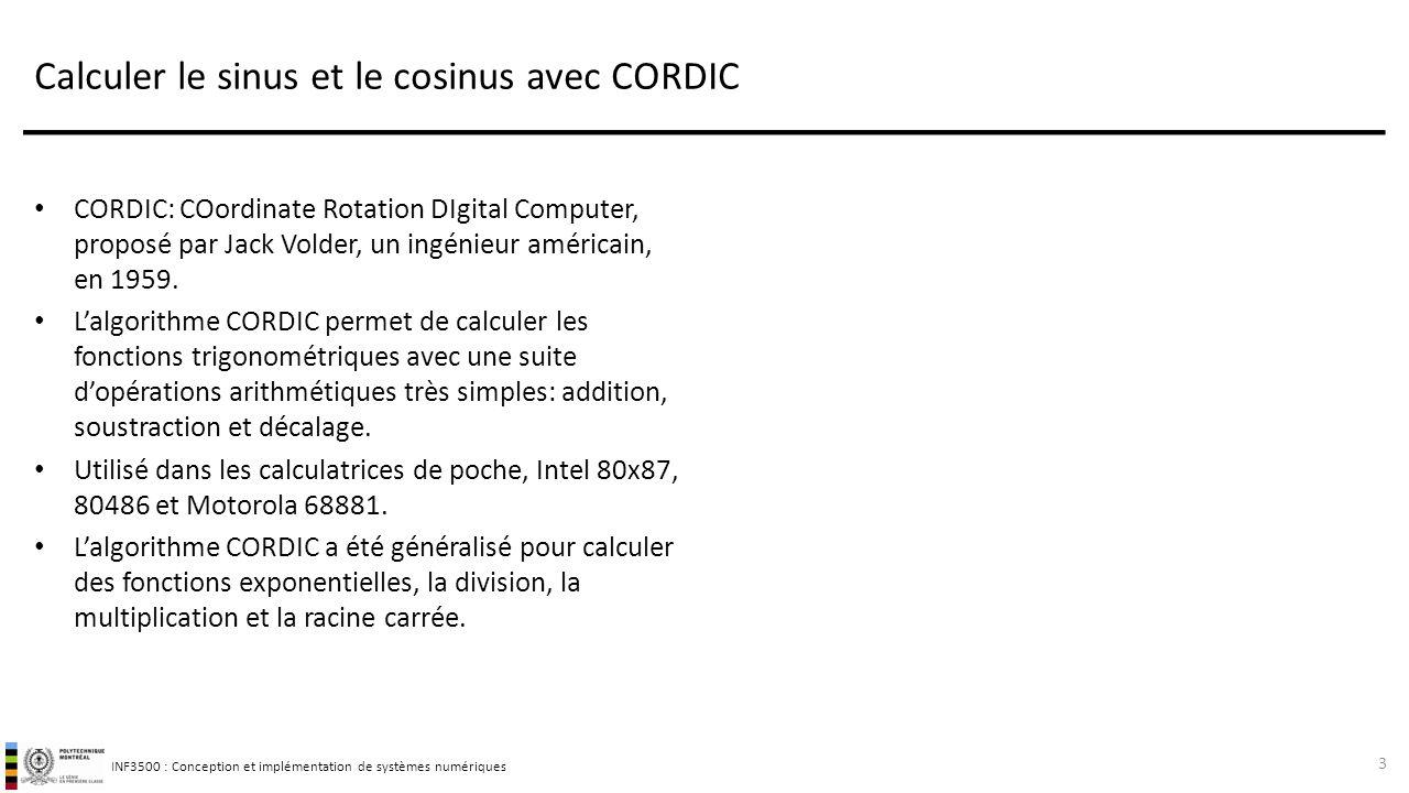 Calculer le sinus et le cosinus avec CORDIC