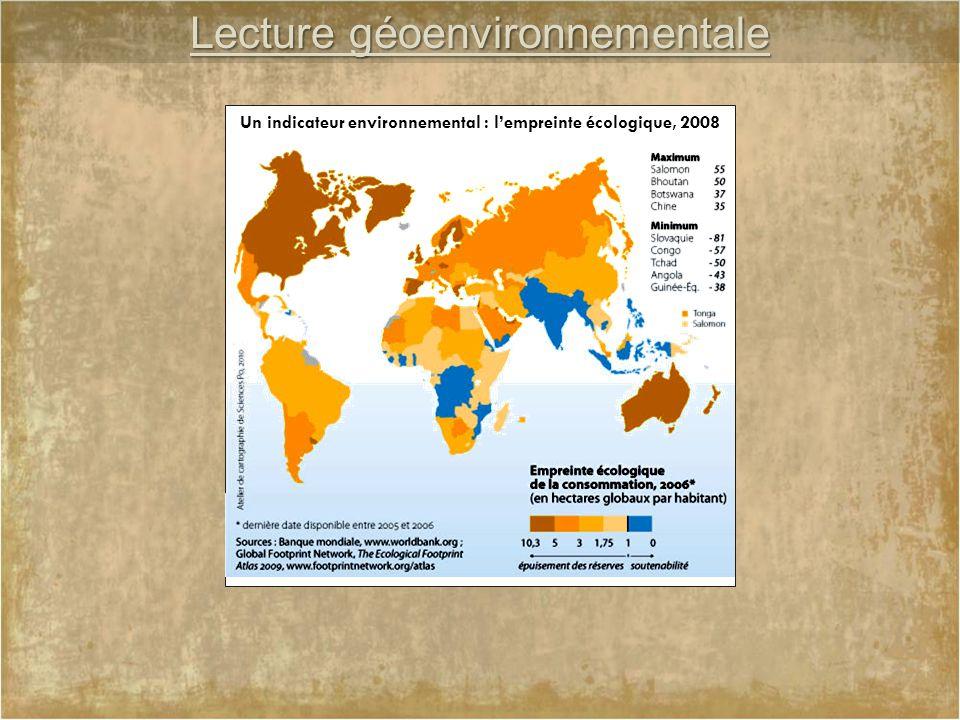 Un indicateur environnemental : l'empreinte écologique, 2008