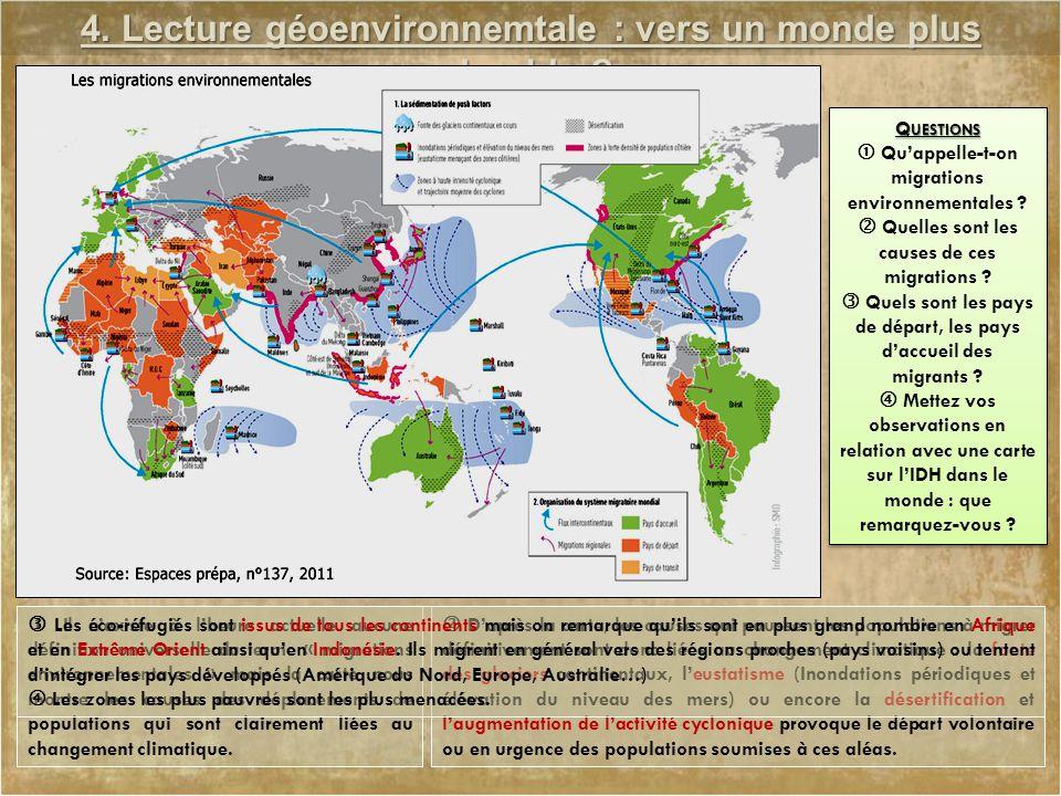 4. Lecture géoenvironnemtale : vers un monde plus durable