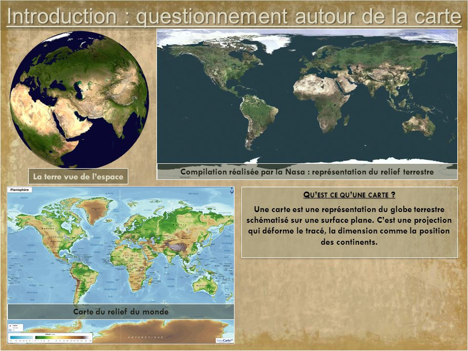 Introduction : questionnement autour de la carte