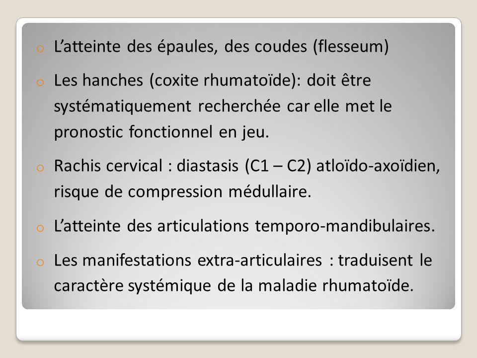L'atteinte des épaules, des coudes (flesseum)