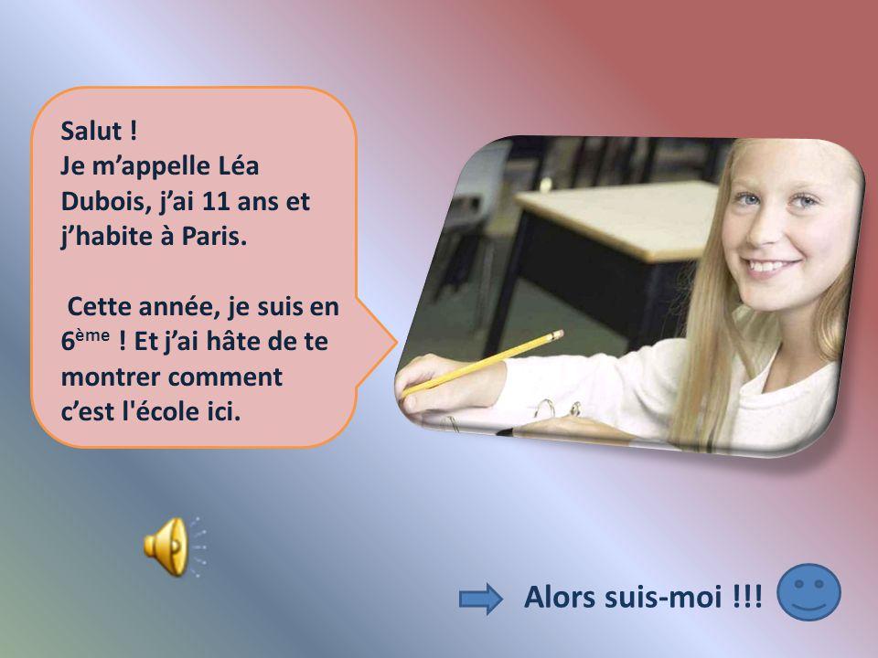 Salut ! Je m'appelle Léa Dubois, j'ai 11 ans et j'habite à Paris.
