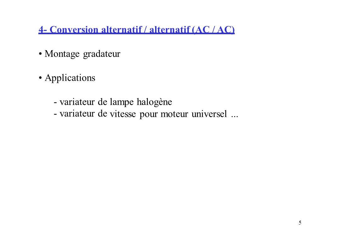 4- Conversion alternatif / alternatif (AC / AC)