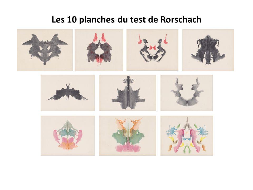 Les 10 planches du test de Rorschach