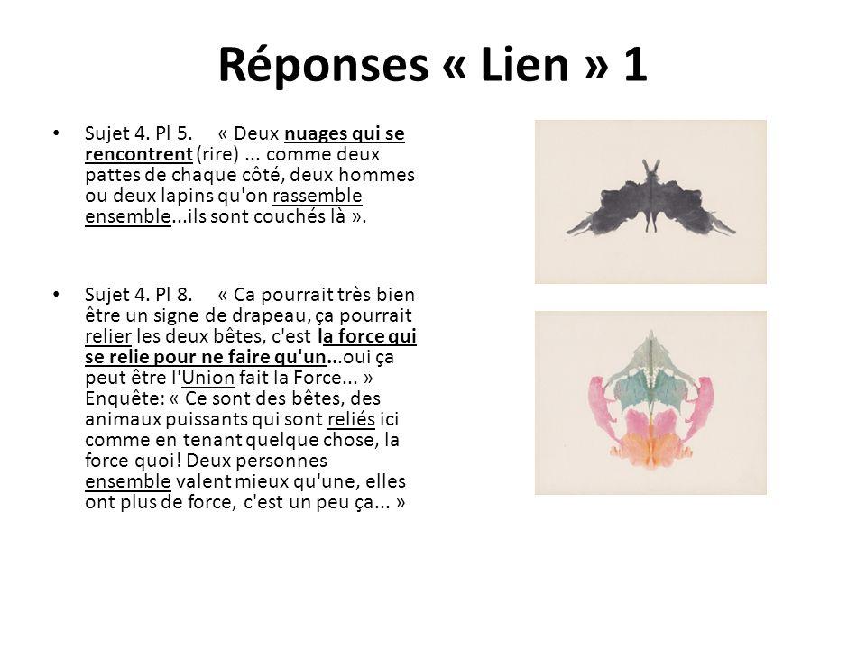 Réponses « Lien » 1