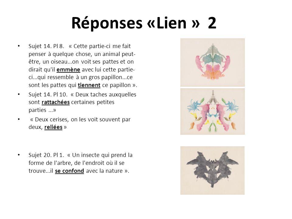 Réponses «Lien » 2