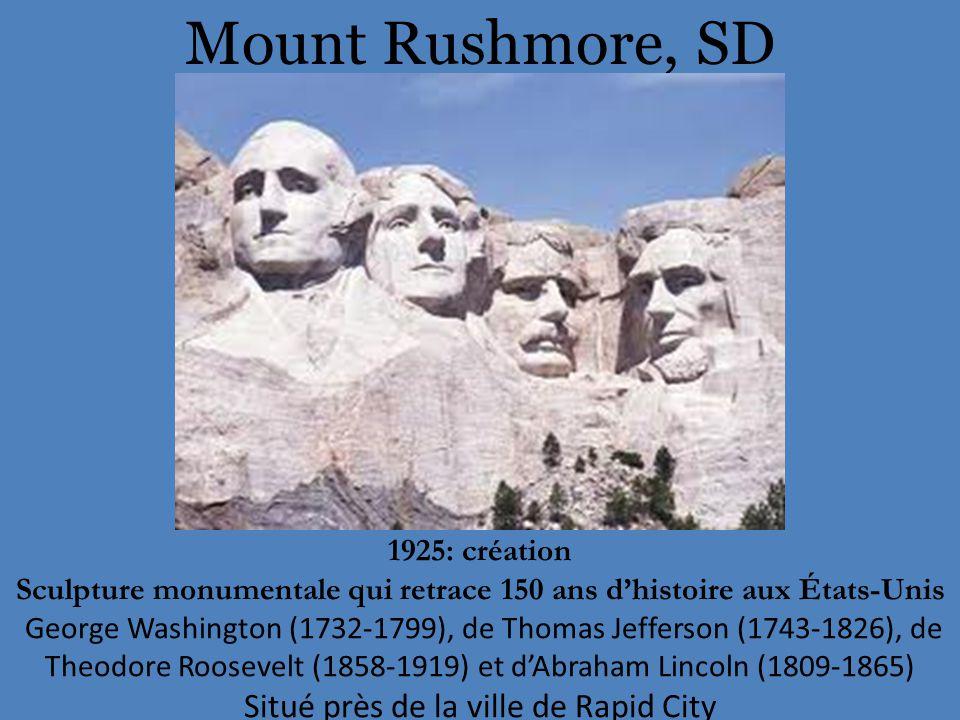 Sculpture monumentale qui retrace 150 ans d'histoire aux États-Unis
