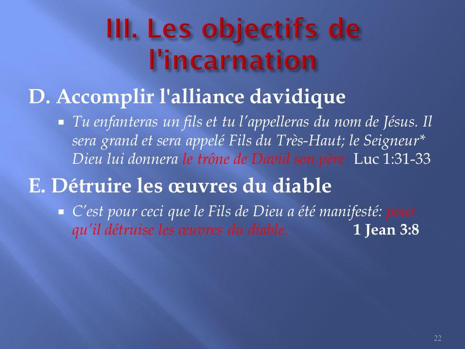 III. Les objectifs de l incarnation