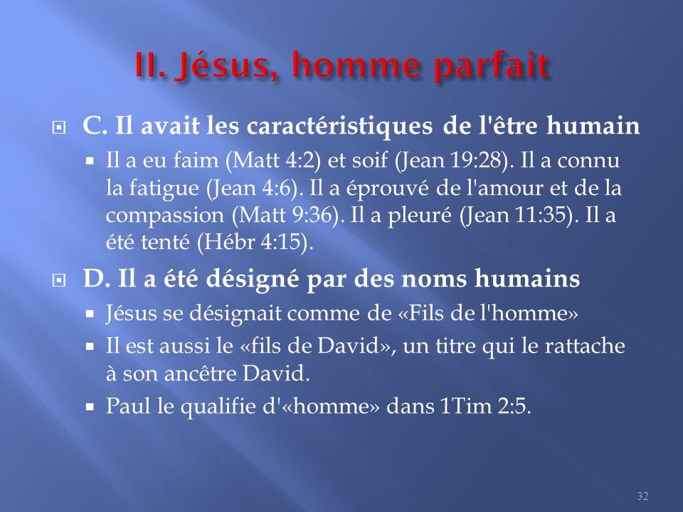 3. Jésus, l homme-Dieu I. Jésus est pleinement Dieu