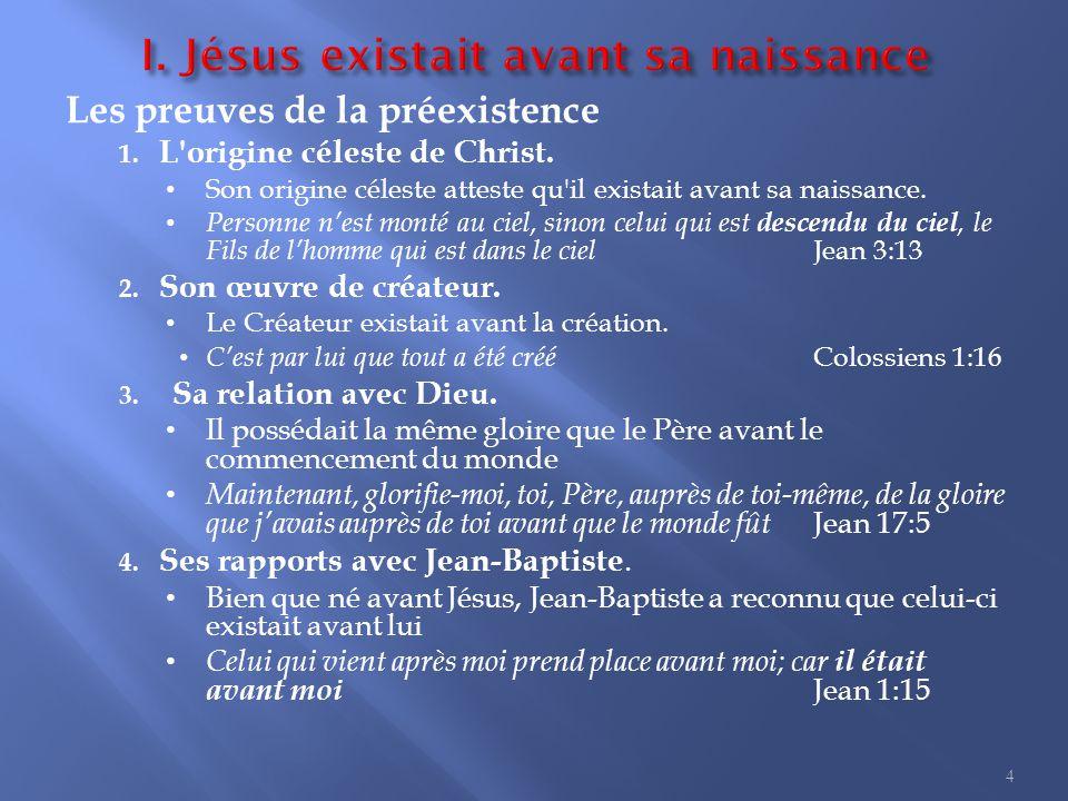 1. Jésus est l Éternel-Dieu