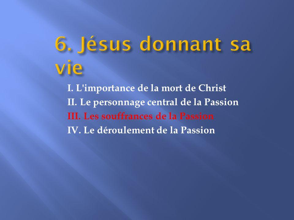 III. Les souffrances de la Passion