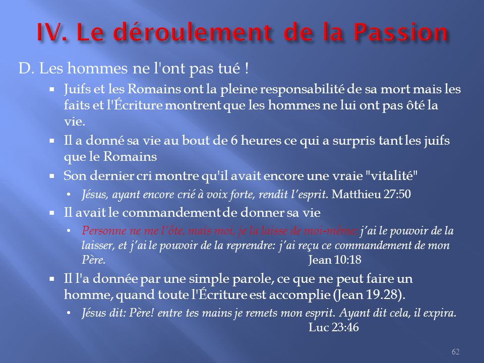 7. Jésus ressuscité I. La résurrection II. L ascension