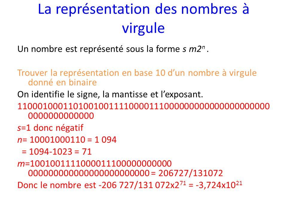 La représentation des nombres à virgule