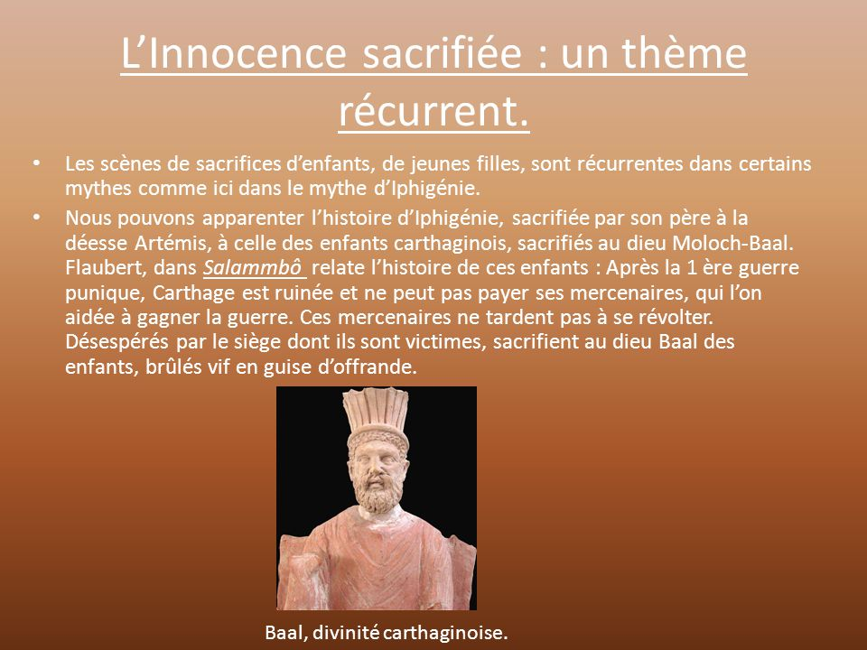 L'Innocence sacrifiée : un thème récurrent.