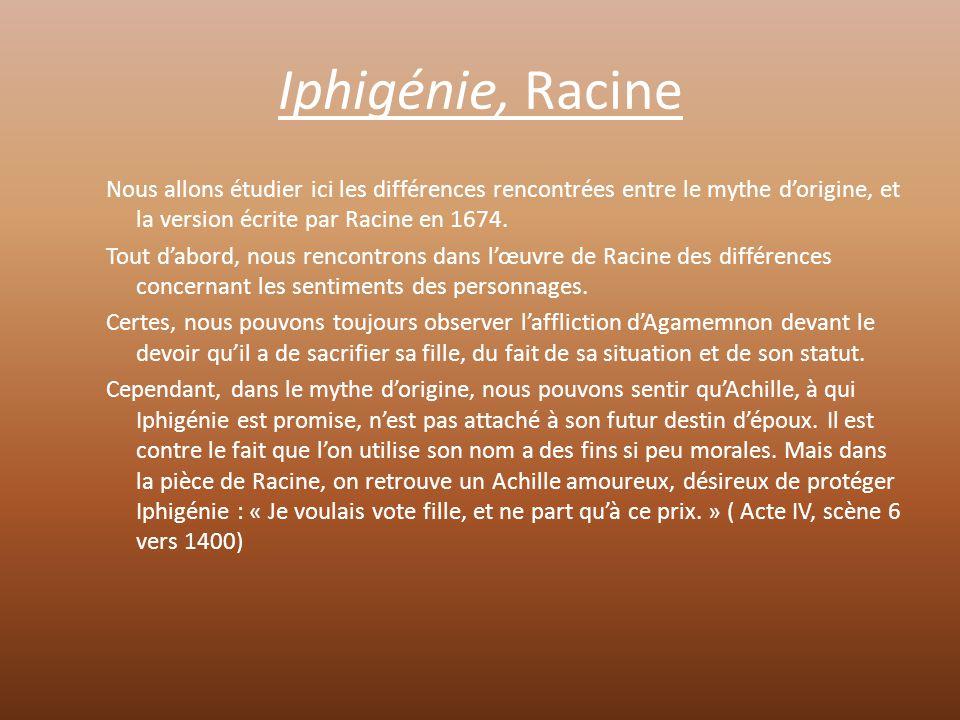 Iphigénie, Racine