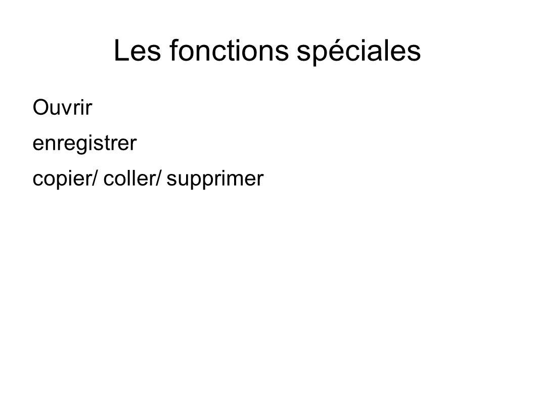 Les fonctions spéciales