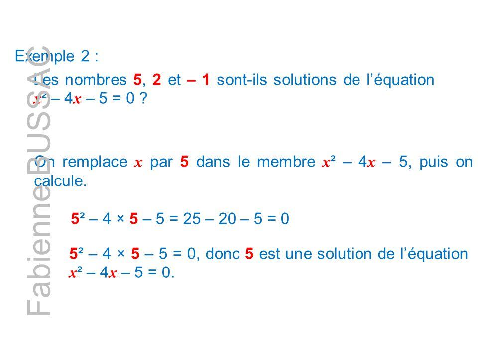Fabienne BUSSAC Exemple 2 :