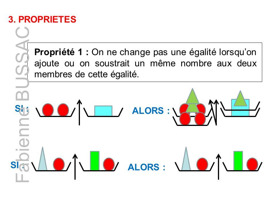 Fabienne BUSSAC 3. PROPRIETES