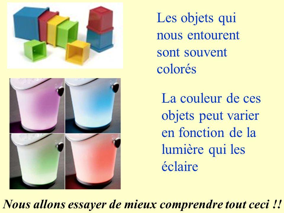 Les objets qui nous entourent sont souvent colorés