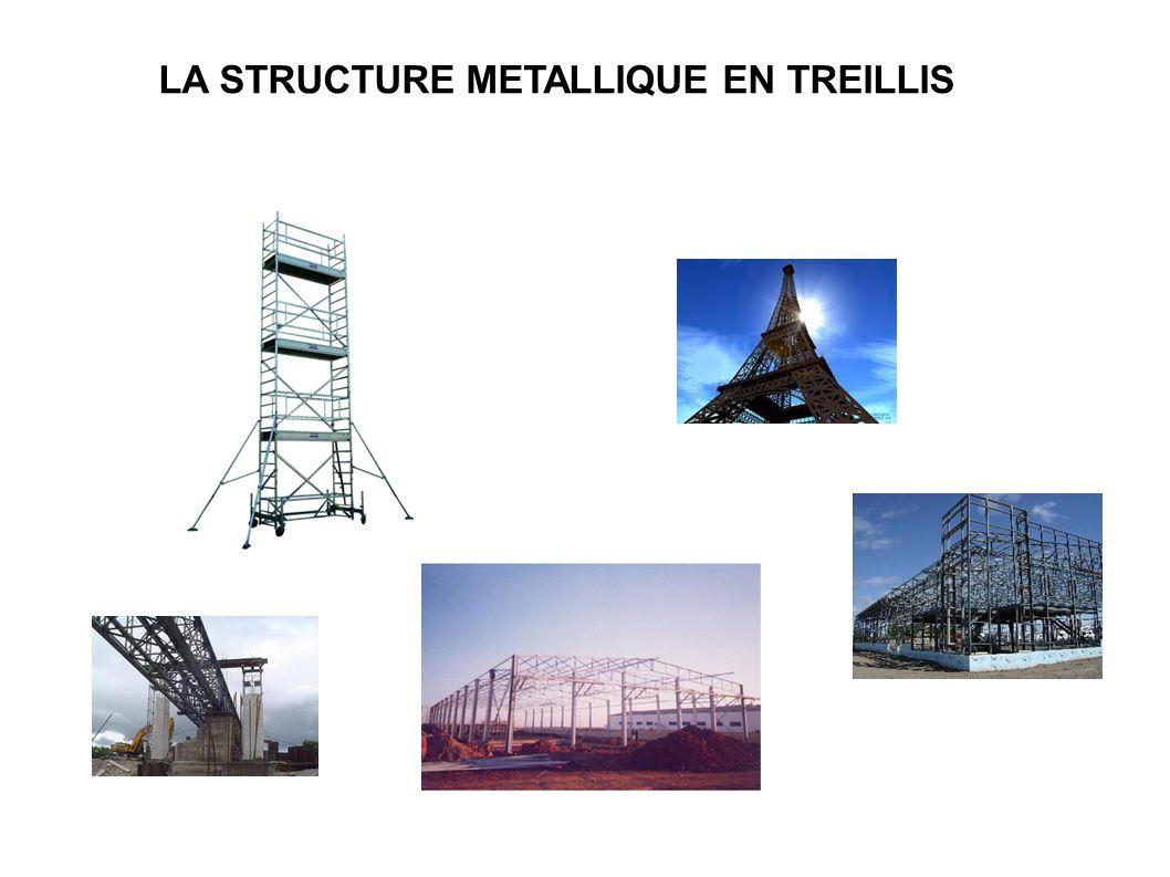 LA STRUCTURE METALLIQUE EN TREILLIS