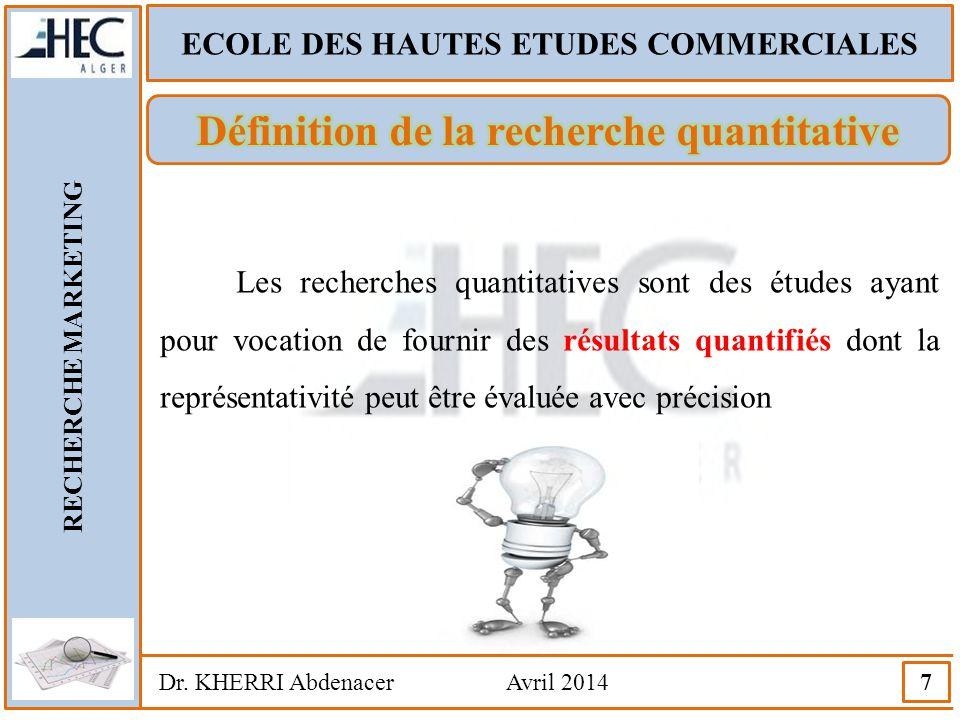 Définition de la recherche quantitative
