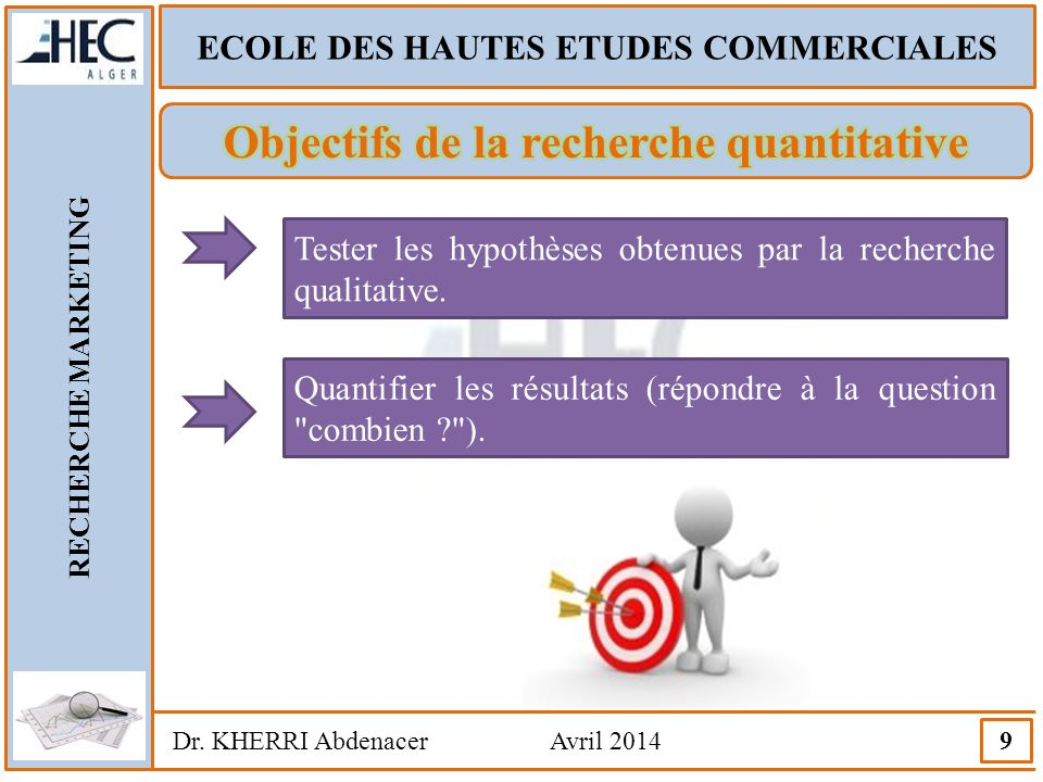 Objectifs de la recherche quantitative