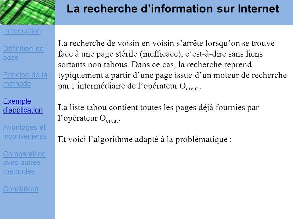 La recherche d'information sur Internet