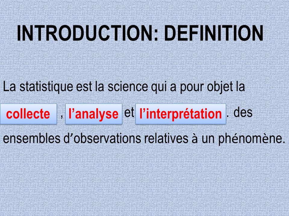 Introduction: DEFINITION