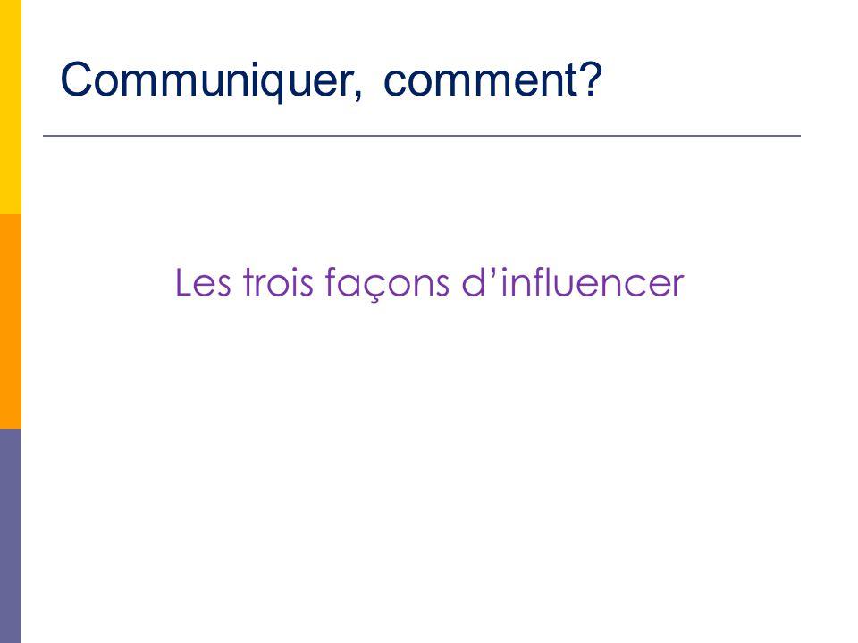 Communiquer, comment
