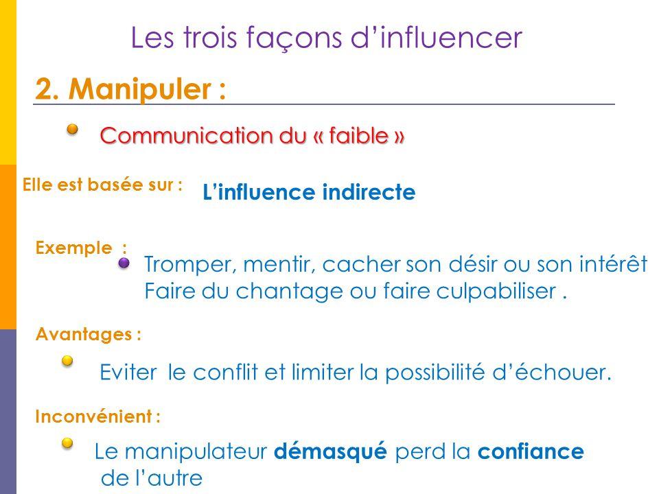 Les trois façons d'influencer
