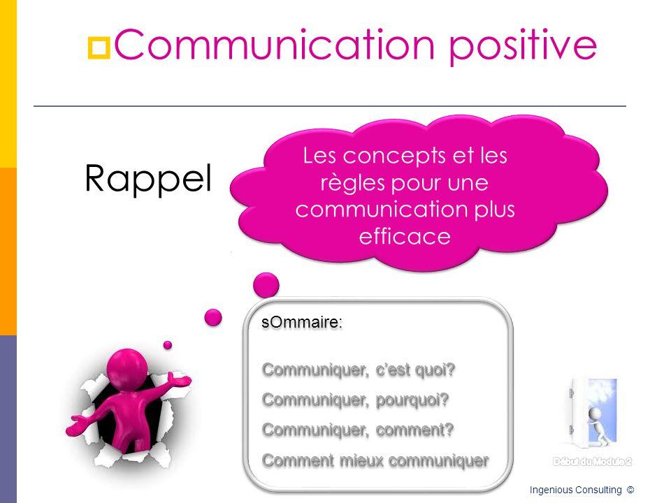 Les concepts et les règles pour une communication plus