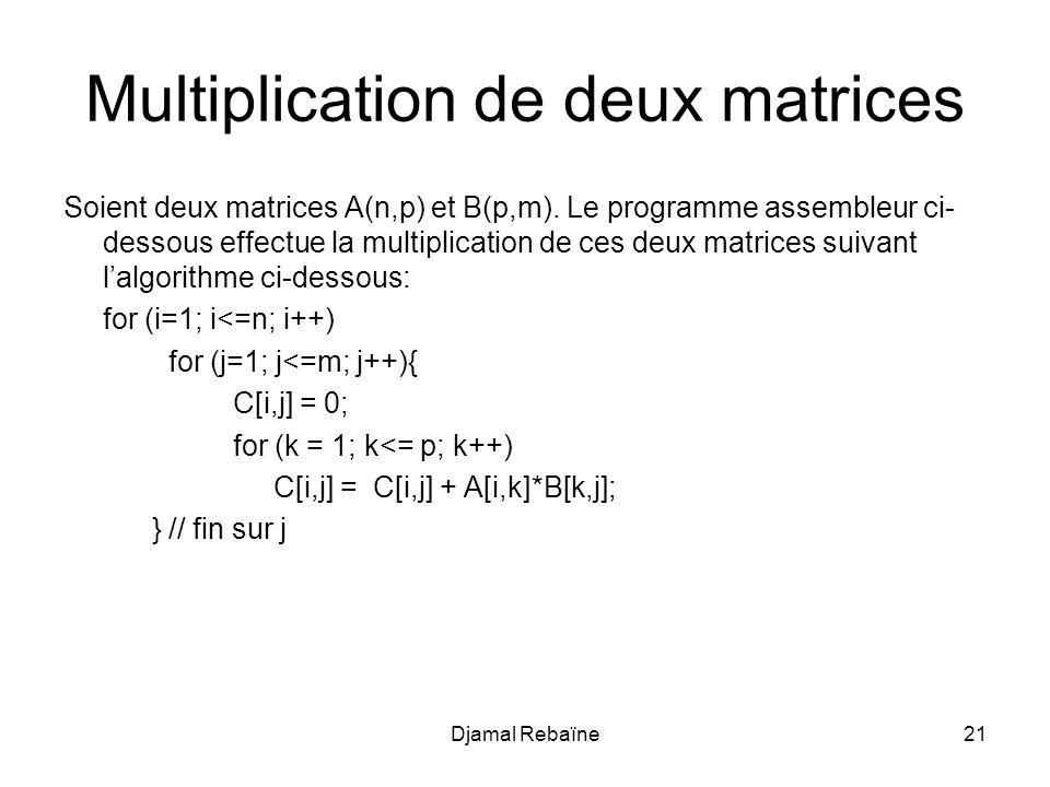 Multiplication de deux matrices
