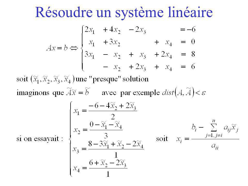 Résoudre un système linéaire