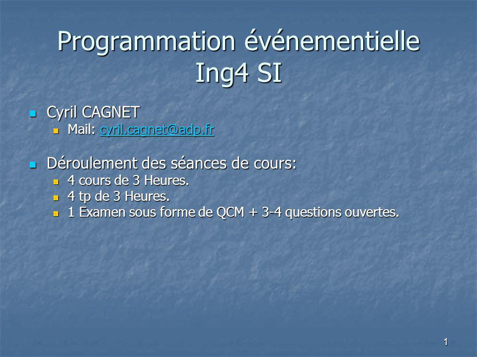 Programmation événementielle Ing4 SI