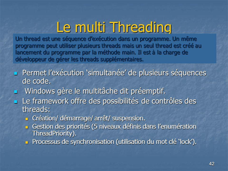 Le multi Threading