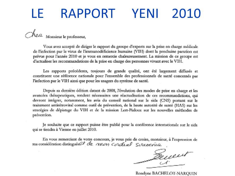 LE RAPPORT YENI 2010