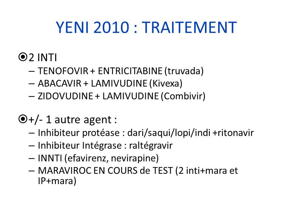 YENI 2010 : TRAITEMENT 2 INTI +/- 1 autre agent :